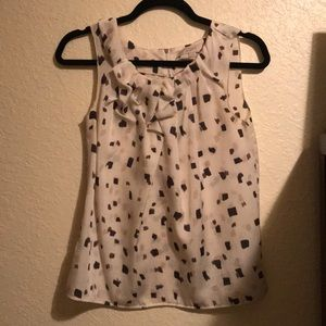 Polkadot silk tank top